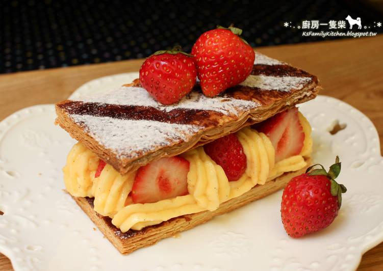 簡易草莓千層派食譜 by 廚房一隻柴 - Cookpad