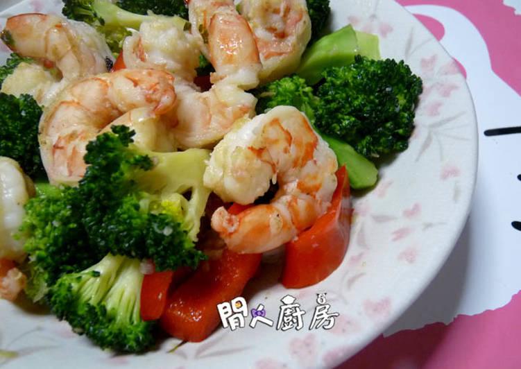 西蘭花炒蝦球食譜 by 閒人廚房 - Cookpad