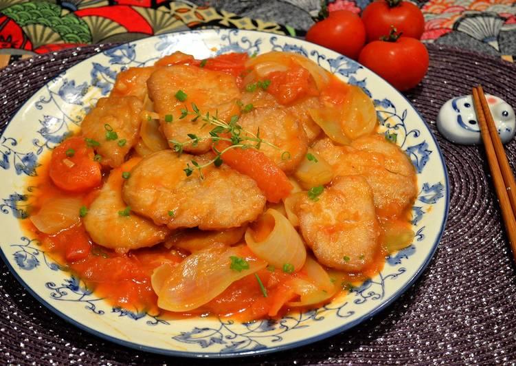 洋蔥番茄燴豬排食譜 by Fen's - Cookpad