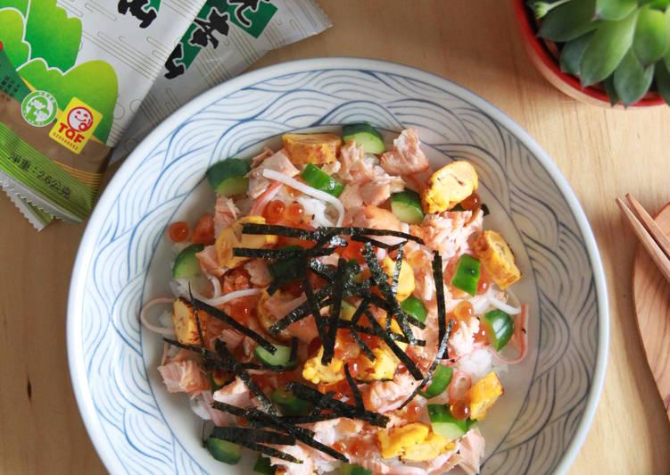 【元本山幸福廚房】鮭魚親子海苔散壽司食譜 by 戀戀家 - Cookpad