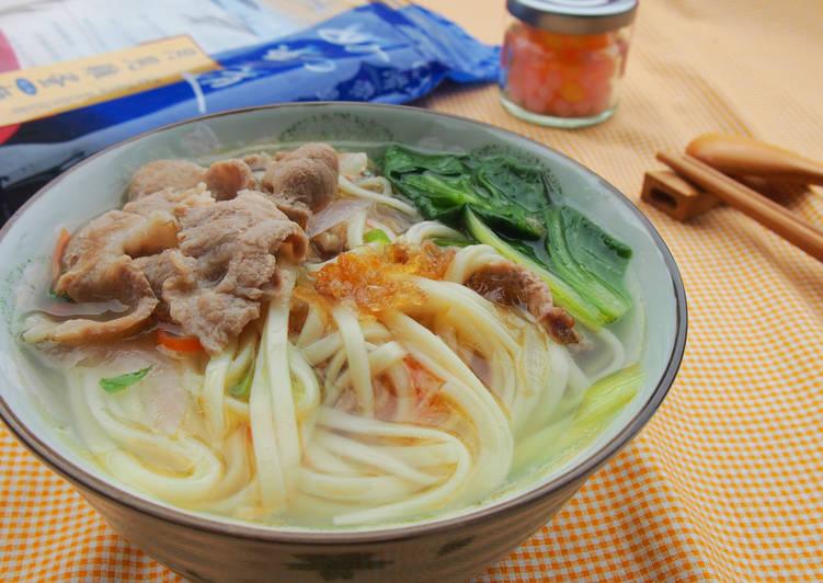 【愛在家裡麵x好勁道】洋蔥肉片清湯麵食譜 by 就醬煮 - Cookpad