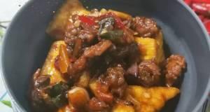 Oseng Daging Tahu