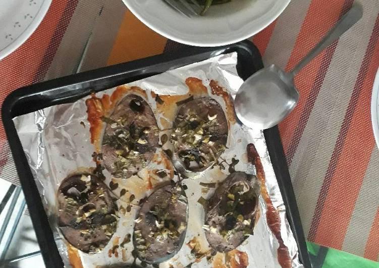 Grilled Tuna steak with Marjoram