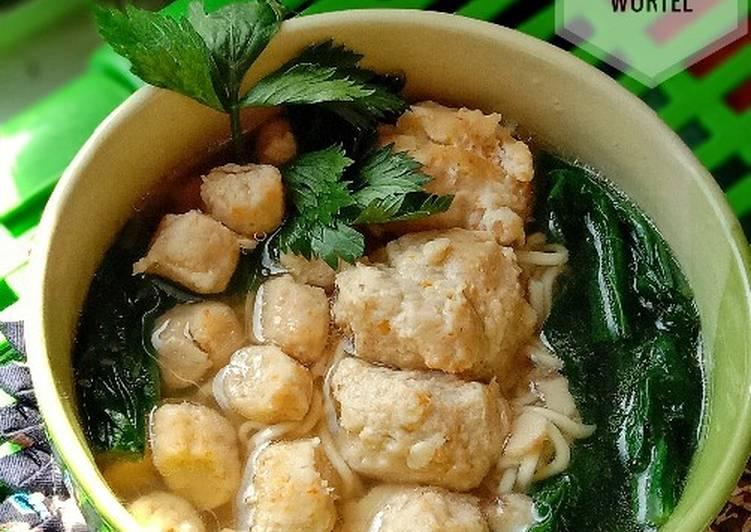 Bakso Ayam Wortel Ala Dapur Emak