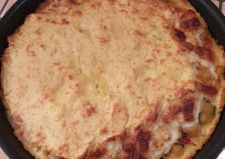 Gâteau de pommes de terre fourré ratatouille mozzarella