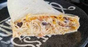 Instapot Southwest Cream Cheese Chicken Wraps