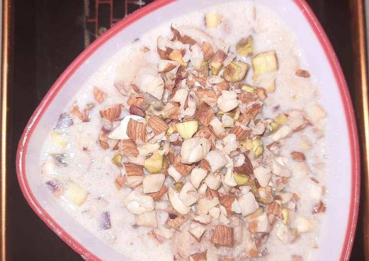 Special sindhi sweet (moong dal vadii in milk)