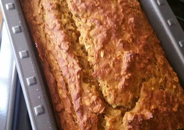 Pumpkin Banana Oatmeal Bread