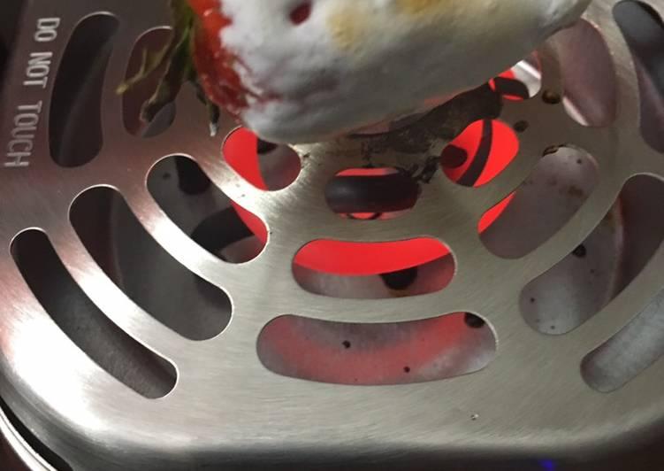 Campfire Strawberries  * vegetarian *
