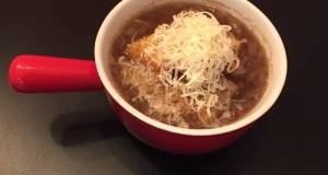 French Onion Soup With Parmesan/Mozzarella Croutons