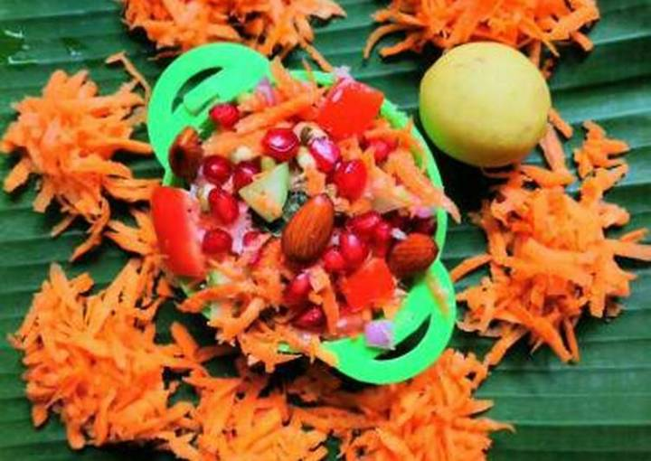 Sprouted moong dal mix salad