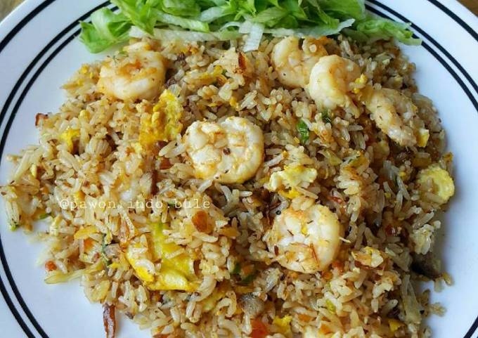 Spicy Shrimp Fried Rice (Indonesian Style)