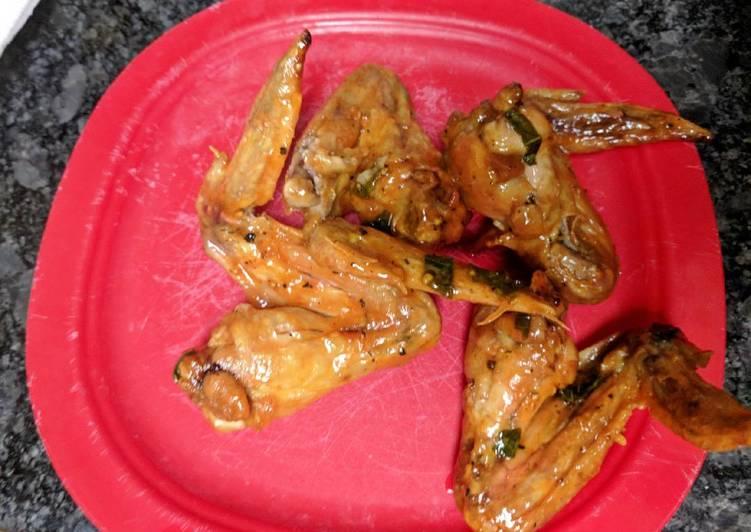 Basil, Garlic, Butter Wings