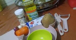 MPASI 6+ Kentang, dada ayam, wortel