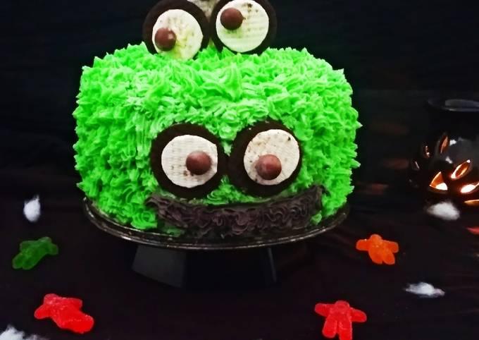 Monster Oreo Cake with Oreo Buttercream Frosting