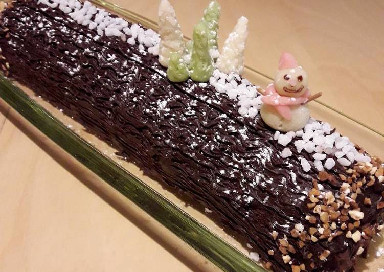Bûche de Noël Chocolat Tonka
