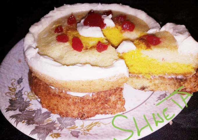 Bournvita and fruits jam cake... It's healthy for child's