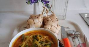 Sayur ketupat - Labu Siam kacang panjang