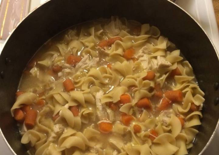 Mostly Homemade Chicken Noodle Soup