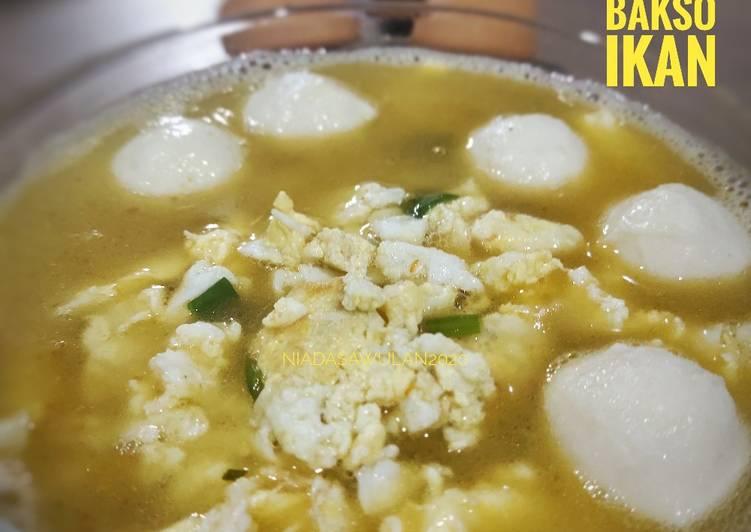 Sup Telur Bakso Ikan