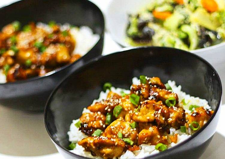 Sesame chicken rice / Ayam Wijen