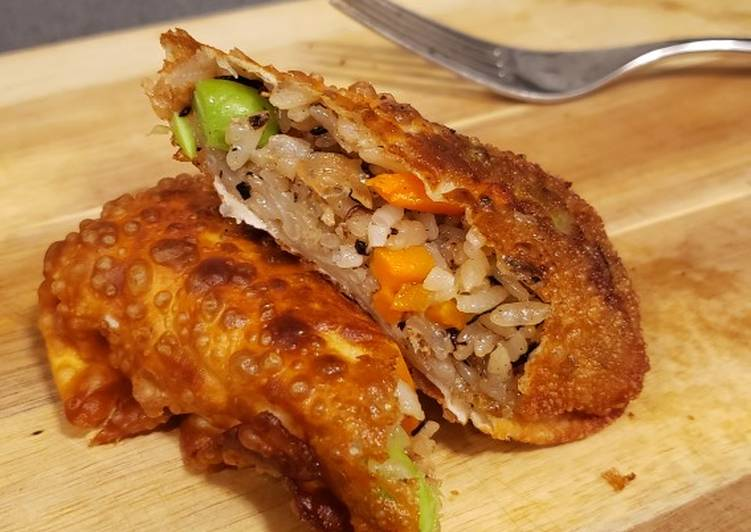 "Two ingredients vegan ""egg"" roll"
