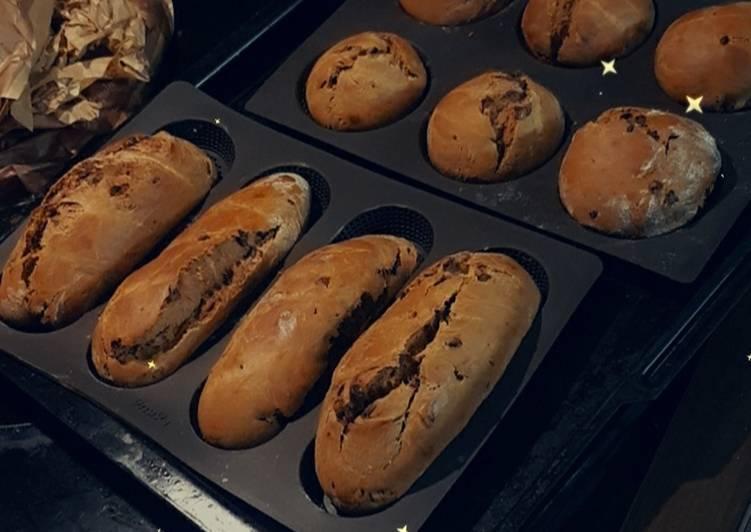 Baguette vienoise au chocolat
