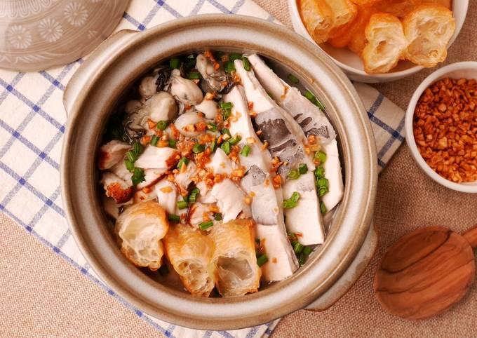18食堂♥ 發表的 海鮮綜合鹹粥_電鍋料理 食譜 - Cookpad