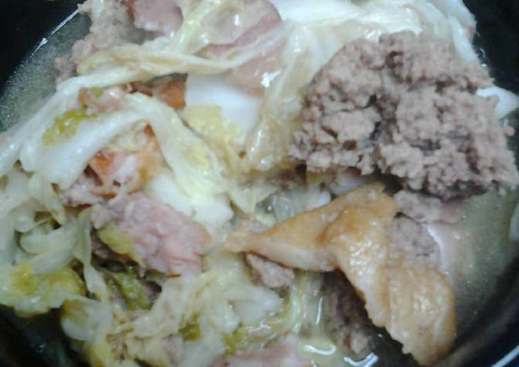 , Recipe: Delicious Chinese/nappa cabbage with beef and bacon