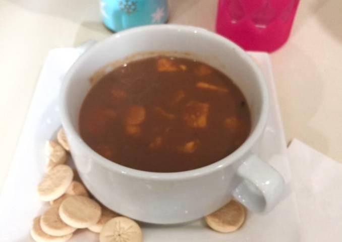Dulce de Crema de Habichuelas Rojas con Batata y Coco