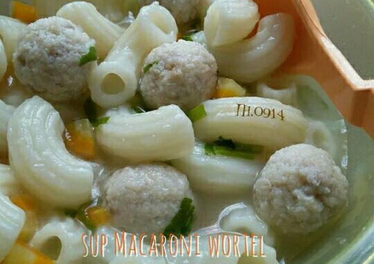 Sup Macaroni Wortel Bola-bola Kakap Merah (MPASI 1y+)