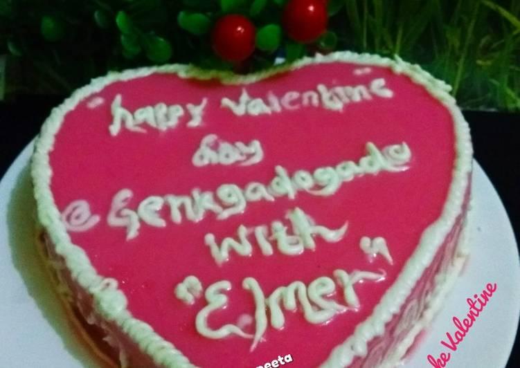 Puding cake valentine