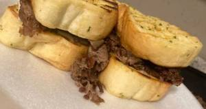 Texas Toast Philly Cheese Steak Sandwich
