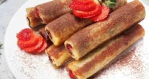 ROTI TAWAR GULUNG Coklat Strawberry