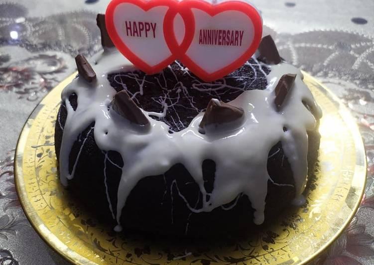 Oreo chocolate biscuit cake no oven eggless kadhai