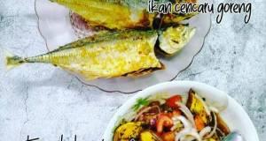 Ikan Cencaru Goreng & Terung Bakar Air Asam