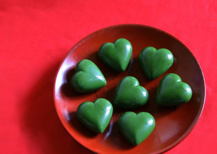 Matcha chocolate for Valentine's Day 2019