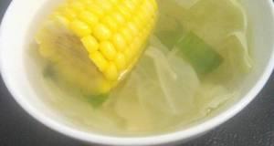 Sayur bening kol + jagung