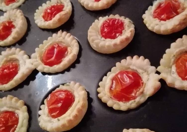 Tartelettes boursin tomates