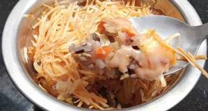 Chicken mentai baked rice
