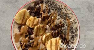 Chocolate Banana Smoothie Bowl (Dairy Free- Gluten Free)