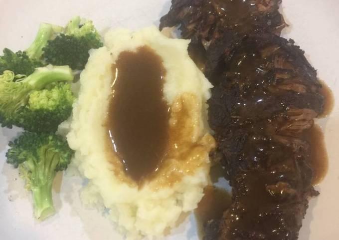 Best beef pot roast ever-crockpot