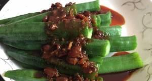 Okra With Honey XO Soy Bean Paste /Tau Chew Sauce