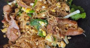 🧑🏽🍳🧑🏼🍳 The Spicy Thai Noodles With Pork •Easy Rice Noodles Recipe  ThaiChef Food