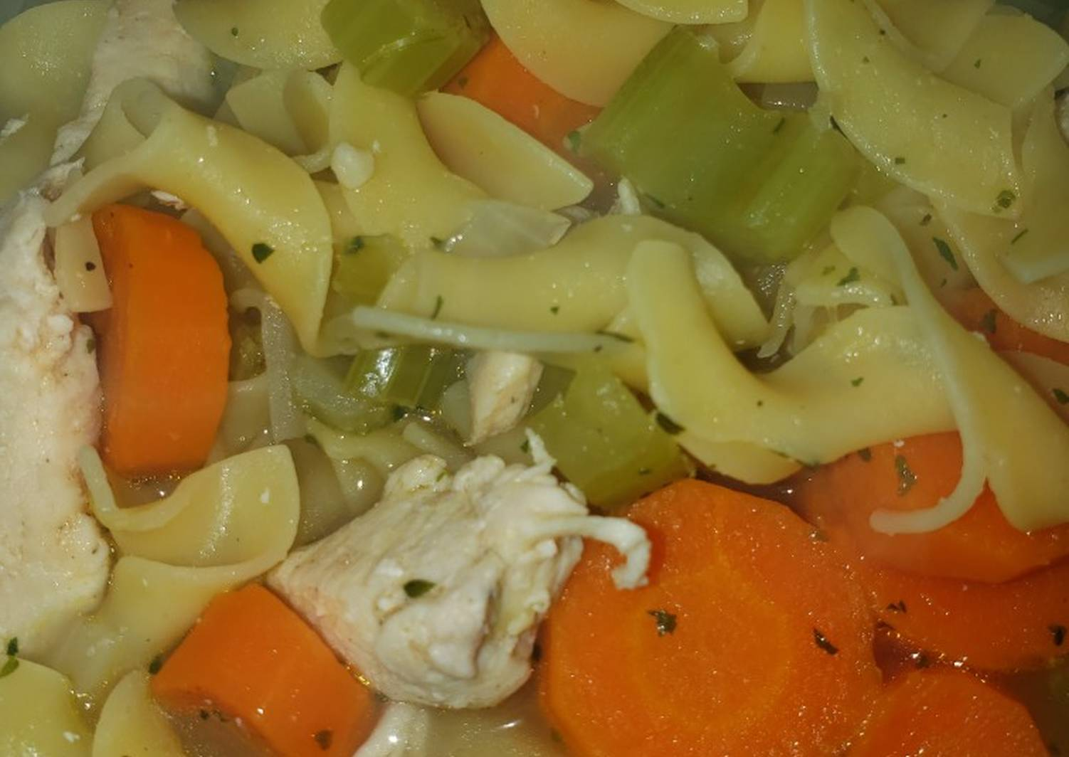 Sharon's Homemade Chicken Noodle Soup