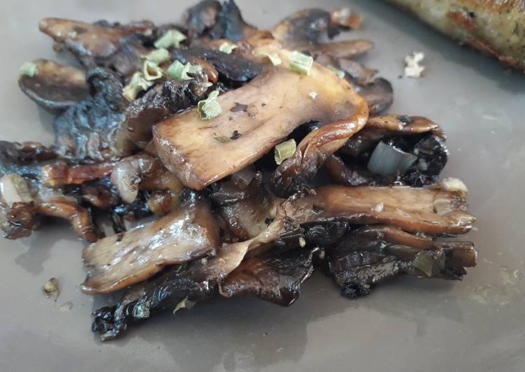 Poêlée de champignons à la plancha
