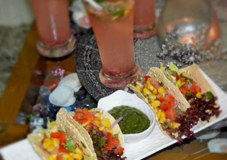 Corn Salsa in Papad Tacos