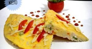 Omelet Nasi Keju Praktis Sarapan Hari 3