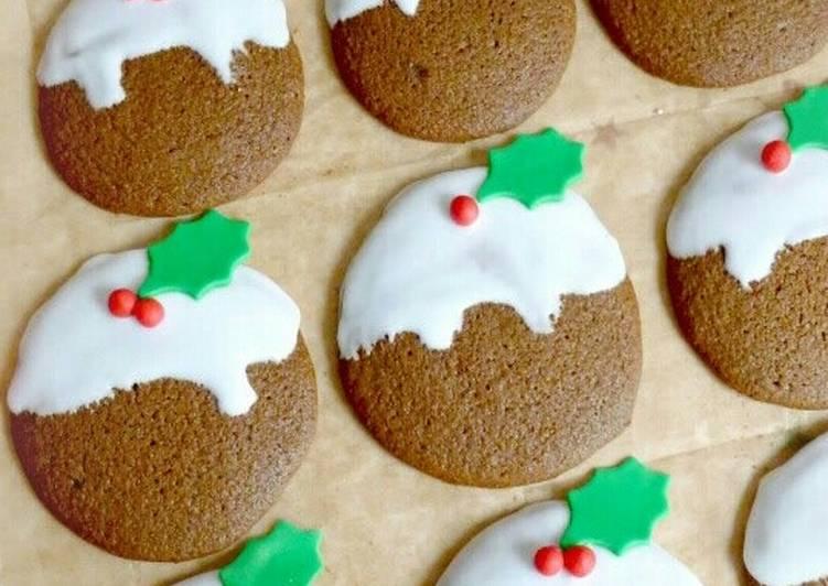 Vickys Christmas Pudding Cookies, GF DF EF SF NF