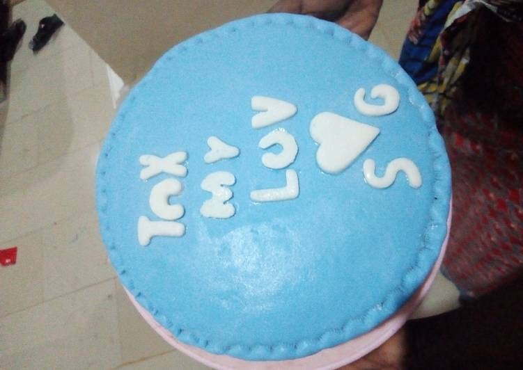 Fondants vanilla cake